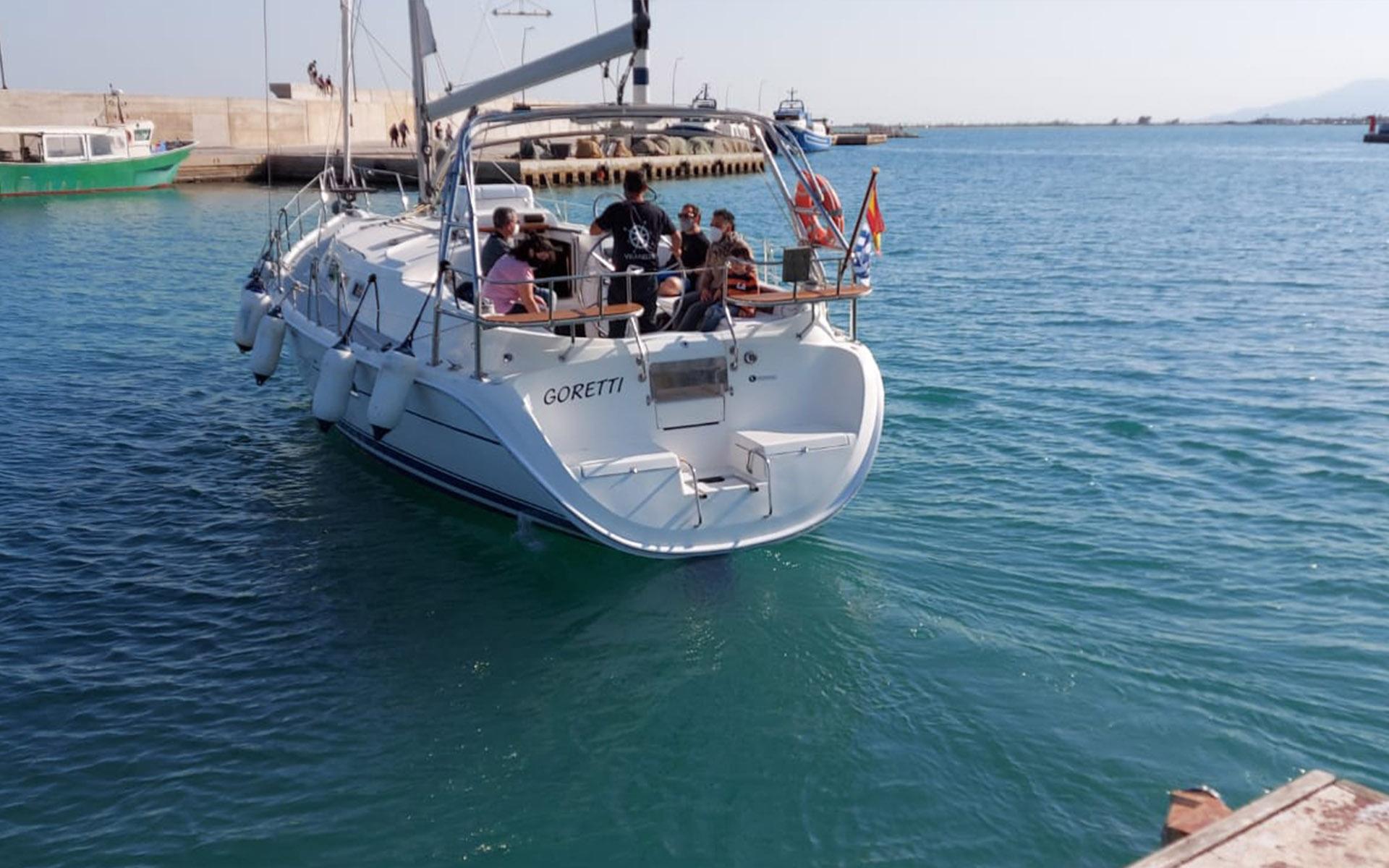 Alquiler del velero en exclusiva en el Delta del Ebro