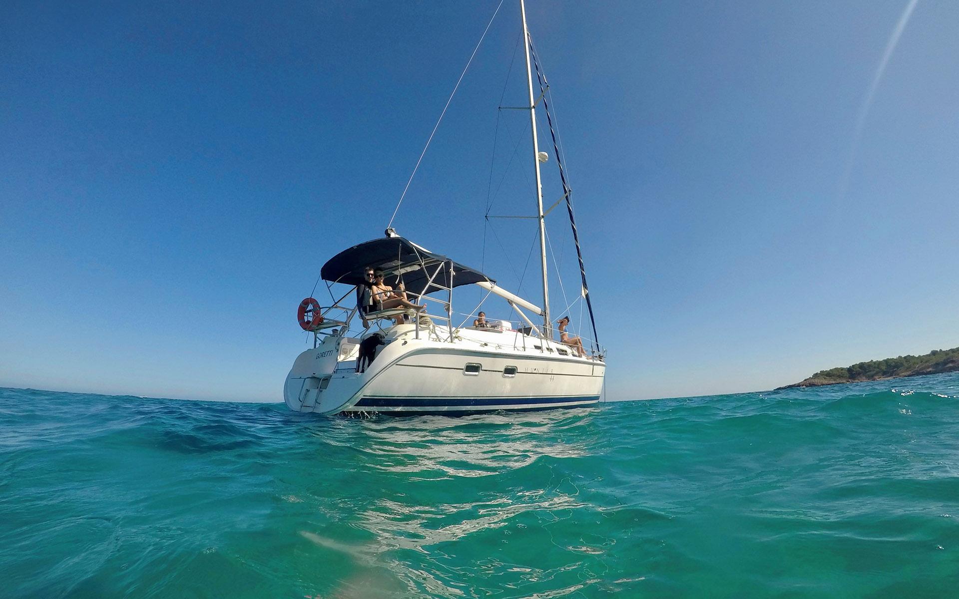 Navegar en velero durante una semana por las Islas Baleares