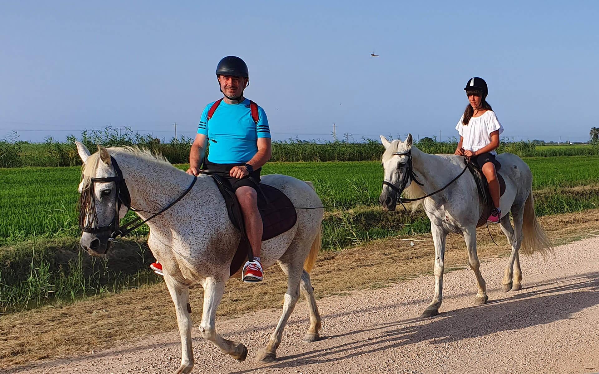 Rutas a caballo por el Delta del Ebro