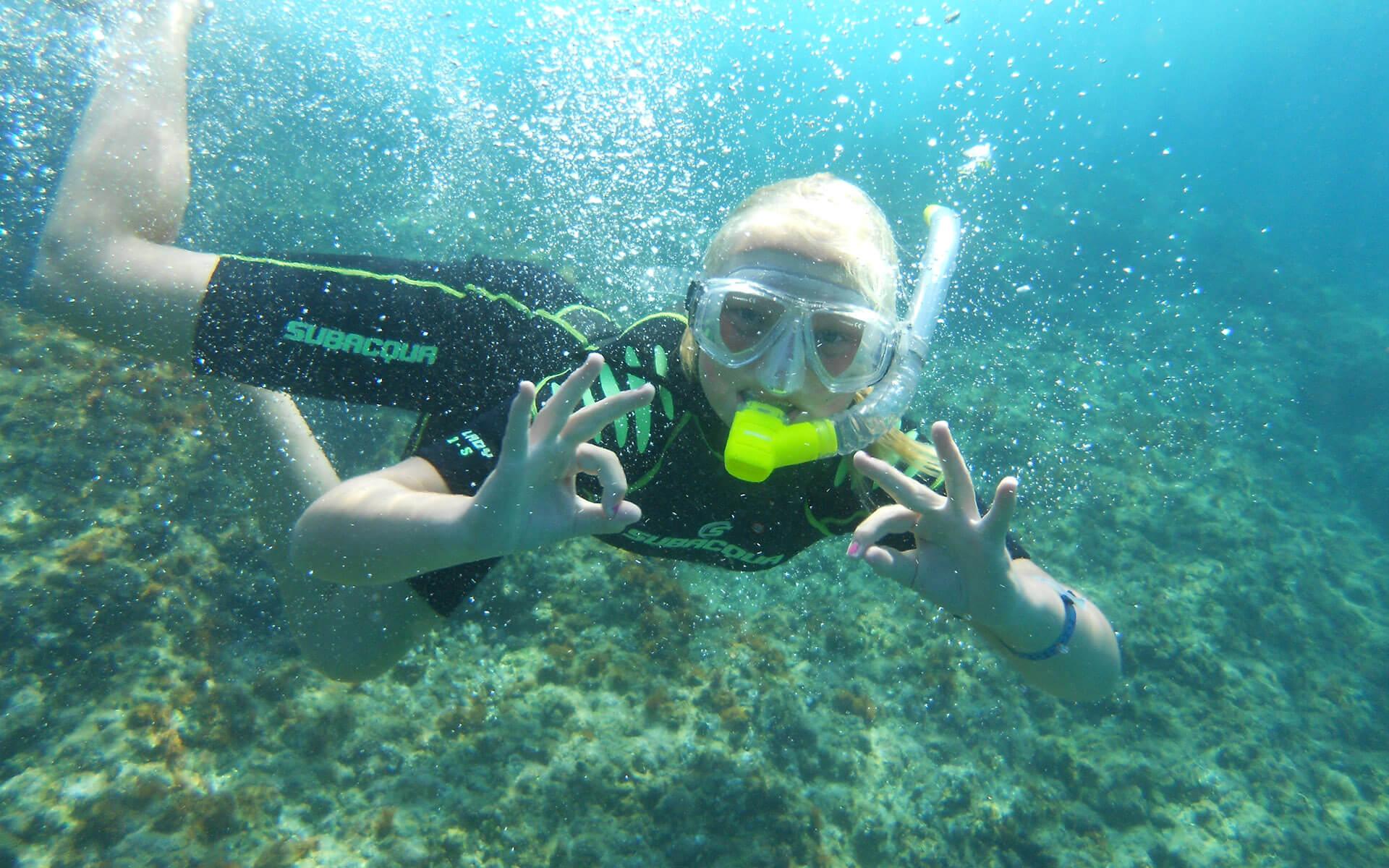 Snorkel con alojamiento en Port Calafat
